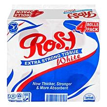 Toilet Rolls White - X4