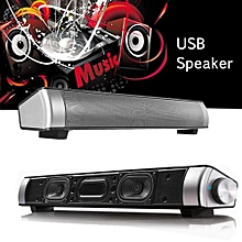 USB Speaker Subwoofer SUPER BASS Audio Sound Bar 3.5mm Mic Port For PC Computer