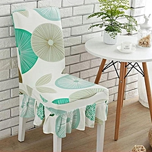 Elegant Flower Elastic Stretch Chair Seat Cover With Skirt Hem Dining Room Home Wedding Decor