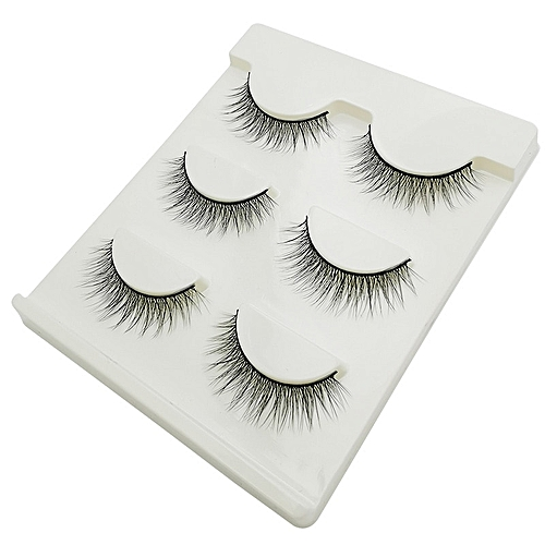 6bf6137a6ae Generic New 3 pairs natural false eyelashes fake lashes long makeup 3d mink  lashes extension eyemink eyelashes for beauty #X11(X02)