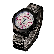 McyKcy Fashionable Male Simple Stainless Steel Analog Quartz Wrist Watch A-Multicolor