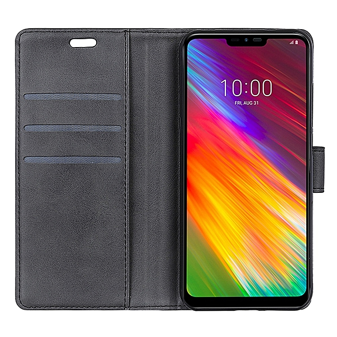 size 40 62b78 adf7c LG G7 Fit Case,Lightweight Design PU Leather Flip Cover with Card  Slots,Kickstand Function and Magnetic Clasp Protective Case for LG G7 Fit  -Black