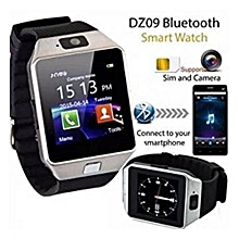 Smart Watch Phone with SIM Slot and Camera - Silver Black