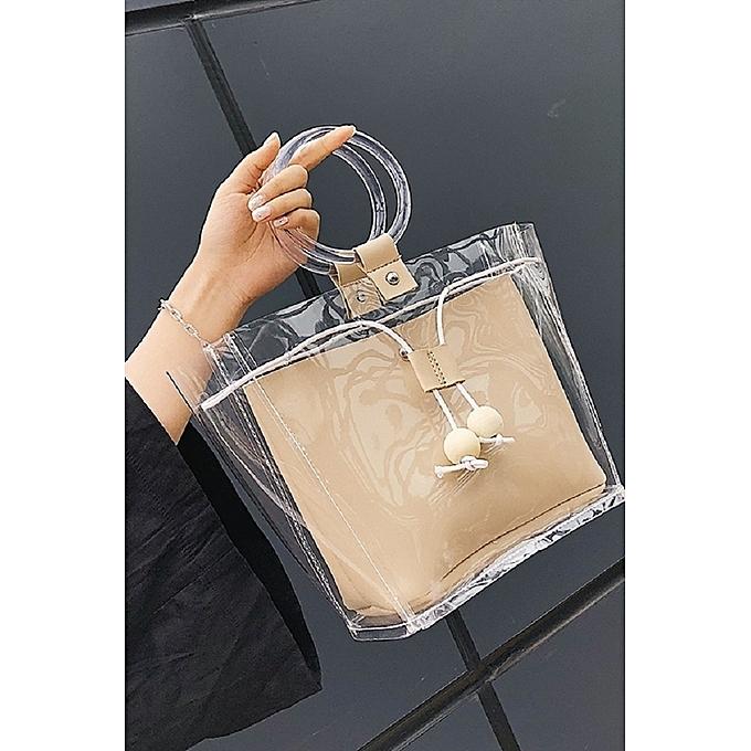 Boutique Ins Bag Female Chic Ring Handbag 2018 New Jelly Transparent Wild