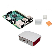3 In 1 Raspberry Pi 3 Model B + Official Case + Heat Sinks Set