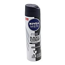 48-Hour Black & White Men's Quick Dry Antiperspirant Spray, 150ml