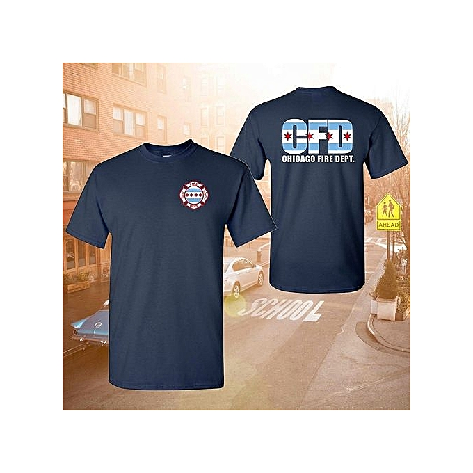 49ea883d6ea16 Chicago Fire Department Maltese Chicago Flag Mens T-shirt 100% Cotton  Causal Tees