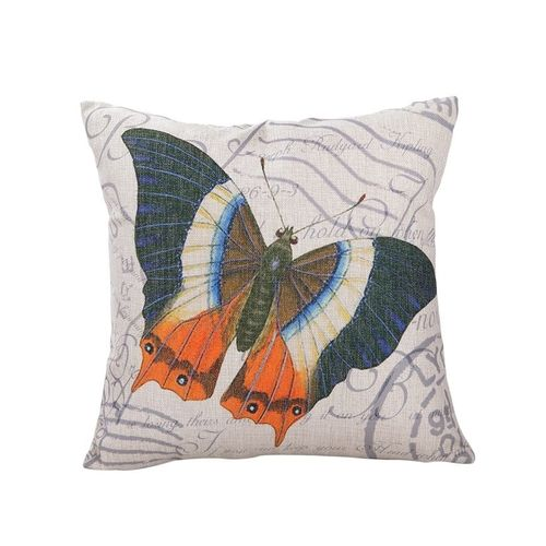Throw Pillow Jumia : Ovonni Q260 - Butterflies 18 Inch Square Linen/Cotton Throw Pillow Buy online Jumia Kenya