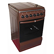 SGC5470-BRN-Electric Cooker 50X55 with 3 Gas Burners + 1 Hot Plate-Stainless steel-TOP-BROWN