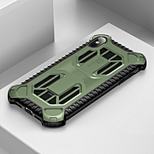 Baseus Cold Front Cooling A Mecha with Double Engine Heat Dissipating Shockproof PC+TPU Case for iPhone XS Max(Green)