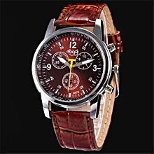Blicool Wrist Watch Luxury Fashion Crocodile Faux Leather Mens Analog Watch Wrist Watches BW-brown