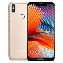 DOOGEE BL5500 Lite, 2GB+16GB, Dual Back Cameras, DTouch Fingerprint, 5500mAh Battery, 6.19 inch U-notch Android 8.1 MTK6739WA Quad Core up to 1.3GHz, Network: 4G,  OTA, Dual SIM(Gold)