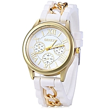 Ladies Sub-dials Quartz Watch - White