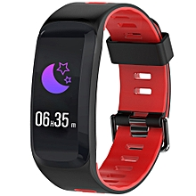 NO.1 F4 Colorful Sports Smart Bracelet IP68 Waterproof Heart Rate / Sleep / Blood Pressure / Blood Oxygen Monitor - FIRE ENGINE RED