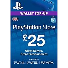 PSN Wallet Top Up UK £25