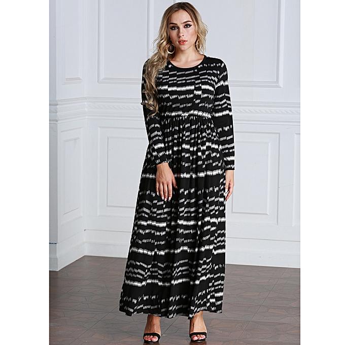 Buy Generic Sexy Women Plus Size Printed Dress Big Size Round Neck