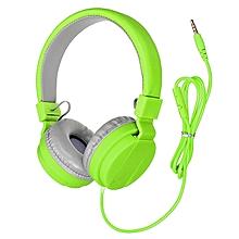 Stereo Music Headphone For IPhone PC IPad Mini 3.5mm (Green)