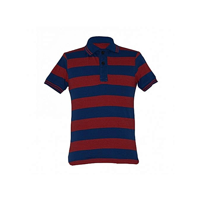 8c715fa2 Zecchino Blue and Red Striped Mens Polo Shirts @ Best Price | Jumia ...