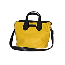 Black/ Yellow Edith's Hand Bag