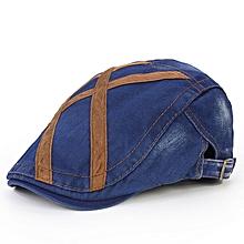 Men Washed Beret Hat Buckle Paper Boy Twill Hats Newsboy Cabbie Gentleman Visor Caps