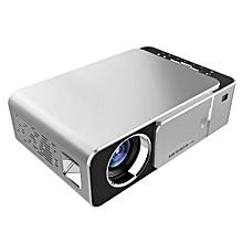 T6 3500ANSI Lumens 1080P LCD Technology Mini Portable HD Theater Projector, Support WiFi , HDMI, AV, VGA, USB(Silver)