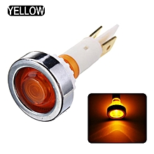 10mm LED Indicator Light Car Truck Boat Yacht Signal Lamp Pilot Dashboard Panel Warning Lamp 12V Yellow