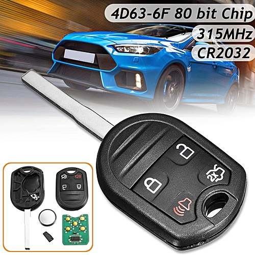 Buttons Remote Key Fob With D Bit Chip Mhz For Ford F