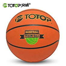 UJ Size 7 Rubber Basketball Special For Primary And Middle School Students-orange With Black-orange With Black