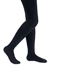 Children's Girls Ballet Dance Tights Footed Seamless Solid Stockings-Black