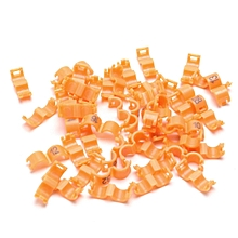 4mm 1-50 Numbered Clip Snap Bird Ring Leg Bands Parrot Finch Canary Duck Grouped Orange
