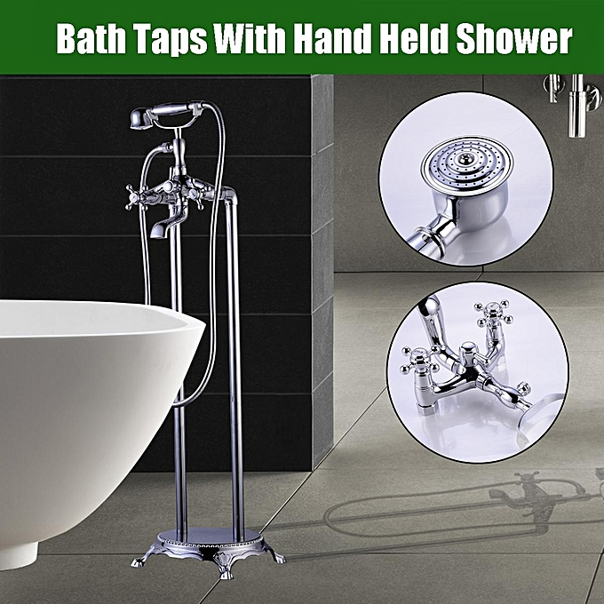 Buy Generic Traditional Chrome Floor Mounted Standing Bath Taps with ...