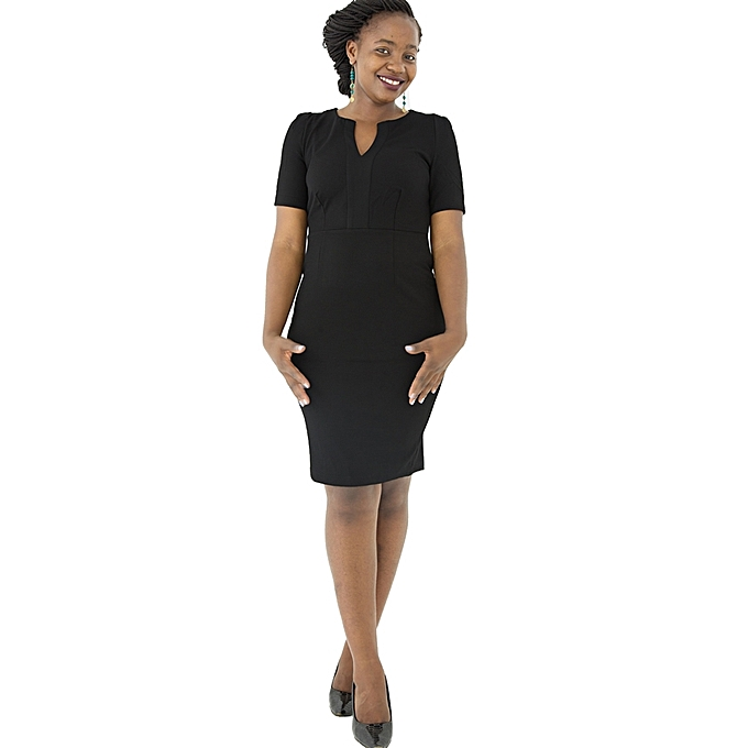 5321ae4ad120 Generic Black Bodycon Dress   Best Price