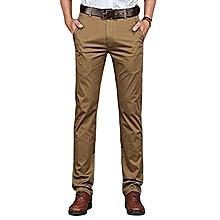Slim Fit Soft Khaki Pants - Beige