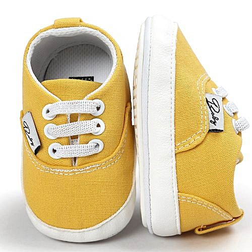 cbb982761 Generic Baby Boys Canvas Shoe Casual Shoes Sneaker Anti-slip Soft Sole  Toddler- Yellow