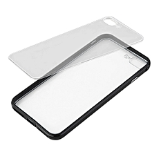 Practical Shockproof Luxury Clear Hard Back Metallic Bumper Phone Case Cover