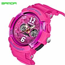 SANDA Women Watches Top Brand Luxury Quartz Watch Mens Sport Kids Student Digital Wristwatch Boy Girl Children Watch Relogio 757
