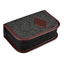 Shoe Shine Care Kit Polish Cleaning Brushes Sponge Cloth Travel Set With Case