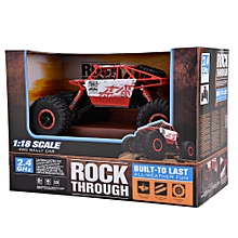 2.4G 4CH 4WD Rock Crawler 1/18 Scale Remote Control Buggy Car Toy (Red)