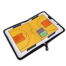 Folding Basketball Coach Magnet Board Set With Pen Clip Coaching Clipboard