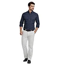 Blue Skinny Male Shirt