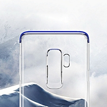 Luxury Shockproof Transparent Phone Case for Samsung Galaxy S9 - Transparent Blue