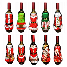 Small Apron Bottle Wine Cover Christmas Sexy Lady Dog Pinafore Red Wine Bottle Wrapper Holiday Bottl