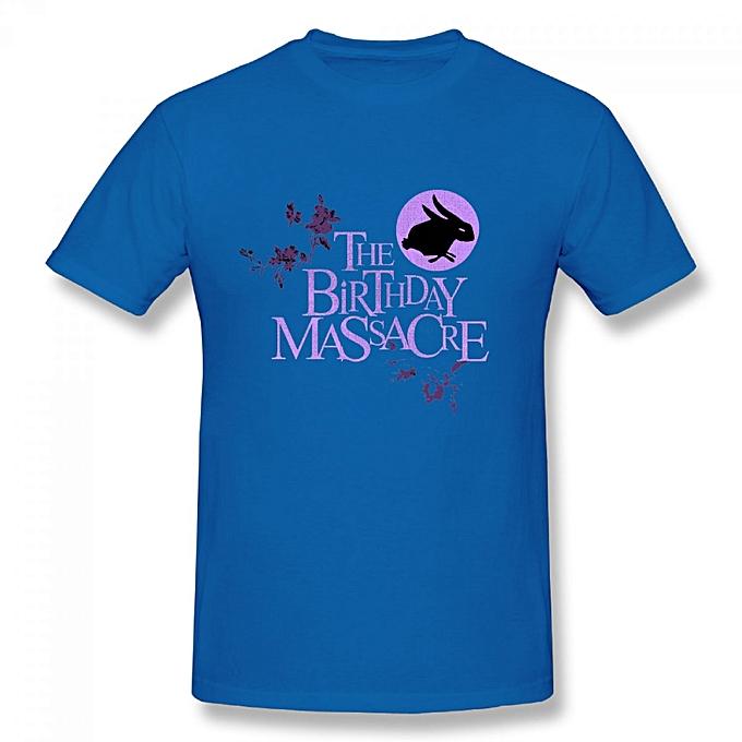 The Birthday Massacre Mens Cotton Short Sleeve Print T Shirt Blue