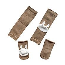 Cartoon Baby Crawling Toddler Girls Protective Knee Pads Leg Warmers+Socks Set