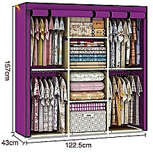 Modern Portable 3-Column Wardrobes
