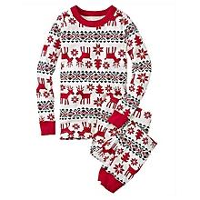 UJ Christmas Family Pajamas Suit Cute Deer Printing Sleepwear For Winter