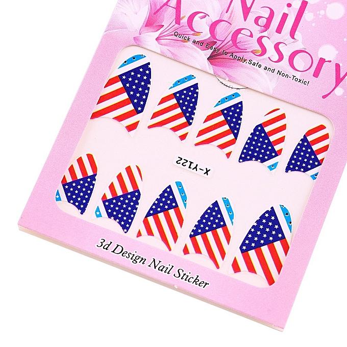 Buy Allwin Pretty 12 Sheets 3D Flower Nail Art Stickers Manicure ...