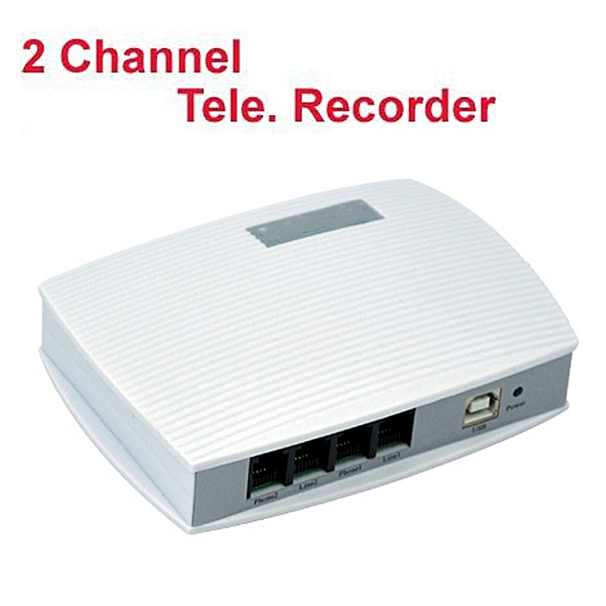 2 channels voice activated USB telephone recorder telephone monitor 4 ports  USB telephone monitor USB phone logger work on W10 MARWA