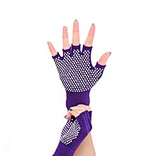 Non-slip Cotton knit Silica gel Bodybuilding Yoga gloves