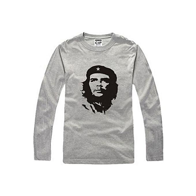526a2f5d78c1 2017 Men Women Personality Fashion Che Guevara Printed Cotton Long Sleeve T  Shirt